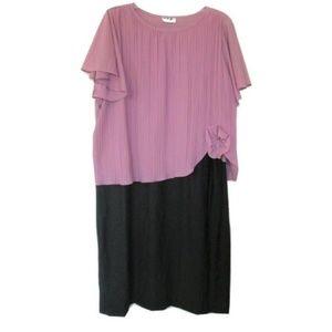 vintage plus size flapper dress 16 14 1x